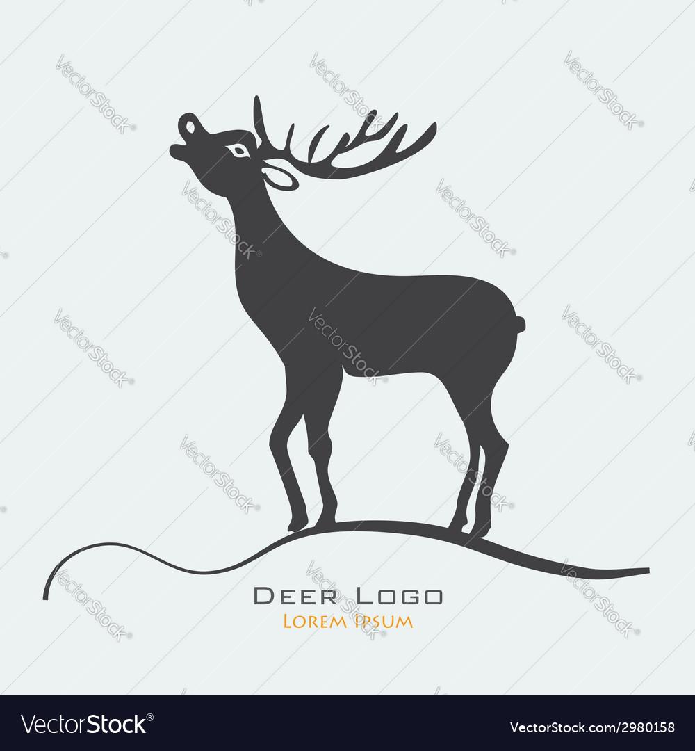 Deer label vector | Price: 1 Credit (USD $1)