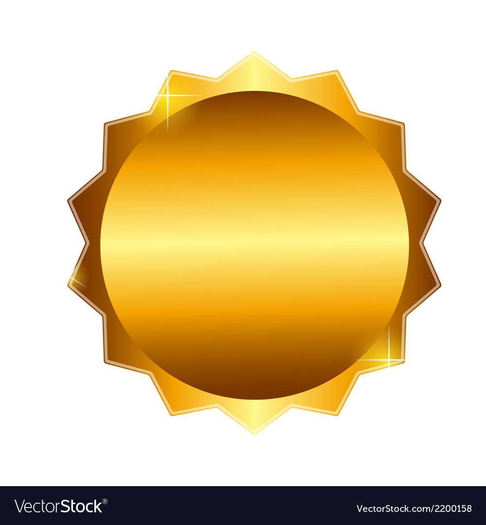 Gold label sign template vector | Price: 1 Credit (USD $1)