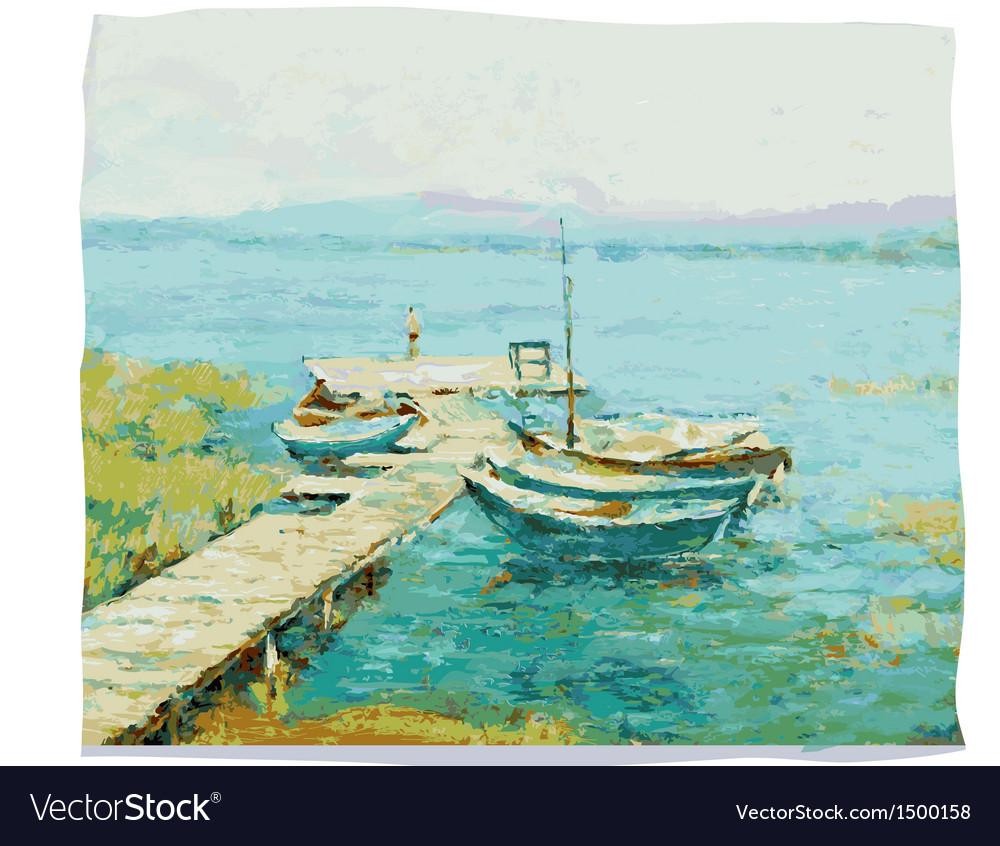 Lake shore vector | Price: 3 Credit (USD $3)