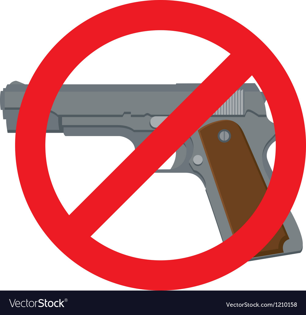 No handguns vector | Price: 1 Credit (USD $1)