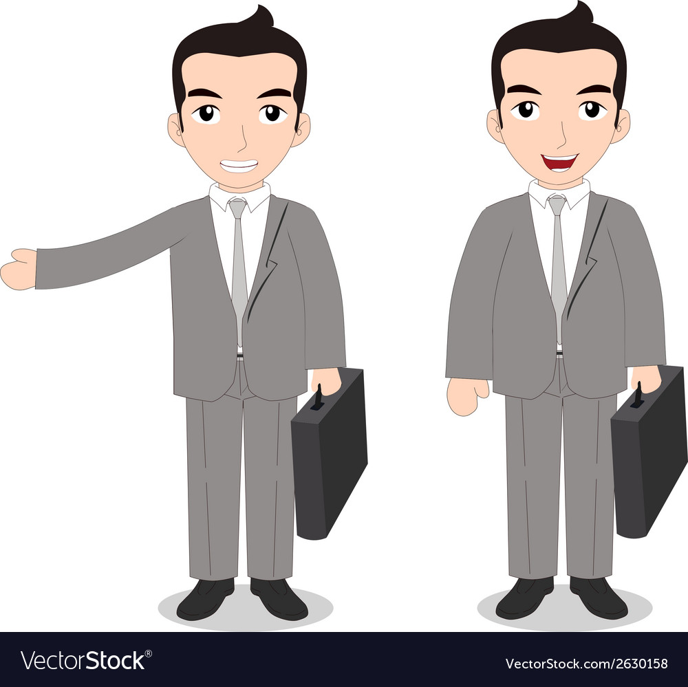 Senior businessman vector | Price: 1 Credit (USD $1)