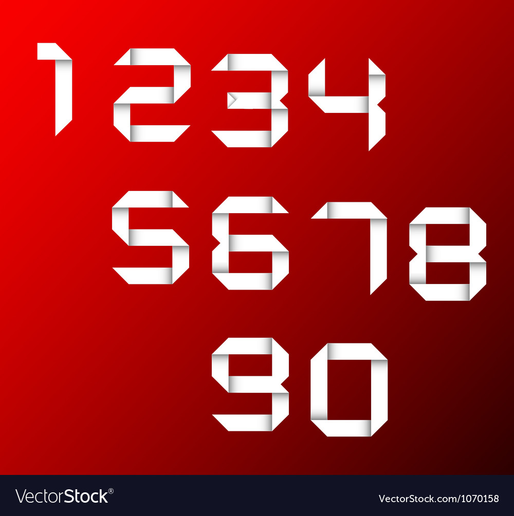 Set of origami numbers vector   Price: 1 Credit (USD $1)