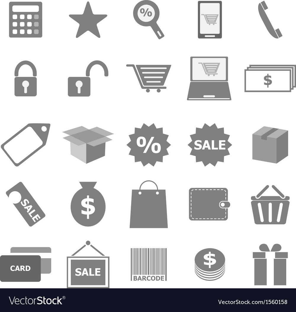 Shopping icons on white background vector | Price: 1 Credit (USD $1)