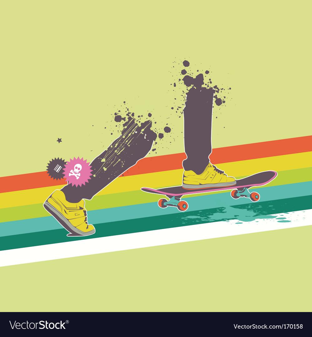 Skateboard rider vector | Price: 1 Credit (USD $1)