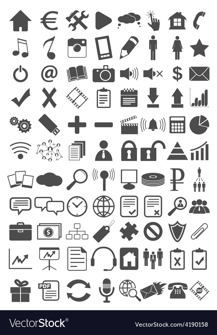 Webdesign flat icons set vector | Price: 1 Credit (USD $1)