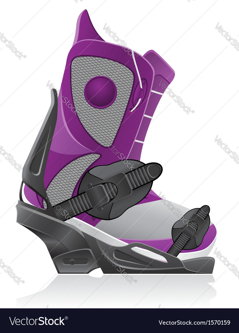 Boot and binding for snowboarding vector | Price: 1 Credit (USD $1)