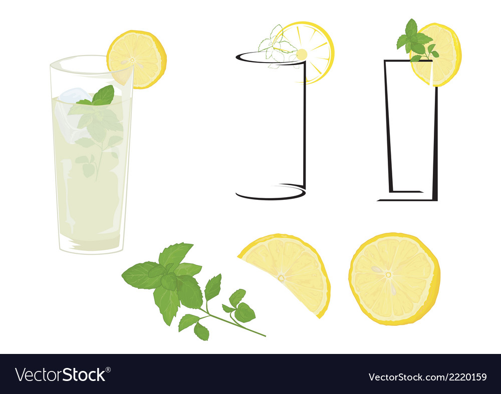 Cocktail mojito vector | Price: 1 Credit (USD $1)
