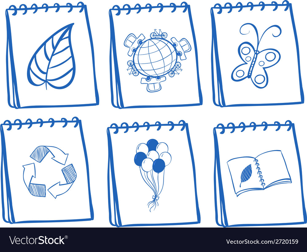 Different notebook icons vector | Price: 1 Credit (USD $1)