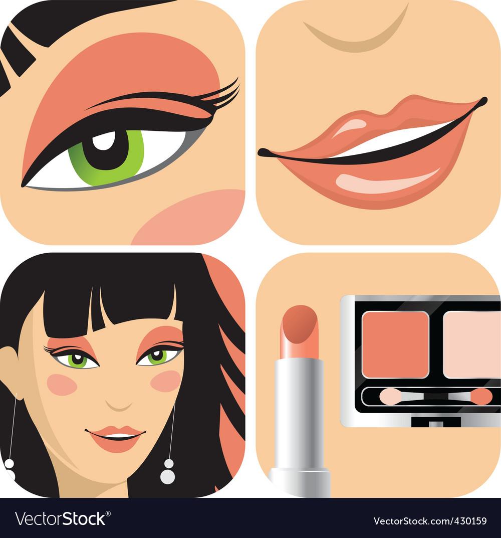 Eye makeup vector | Price: 1 Credit (USD $1)