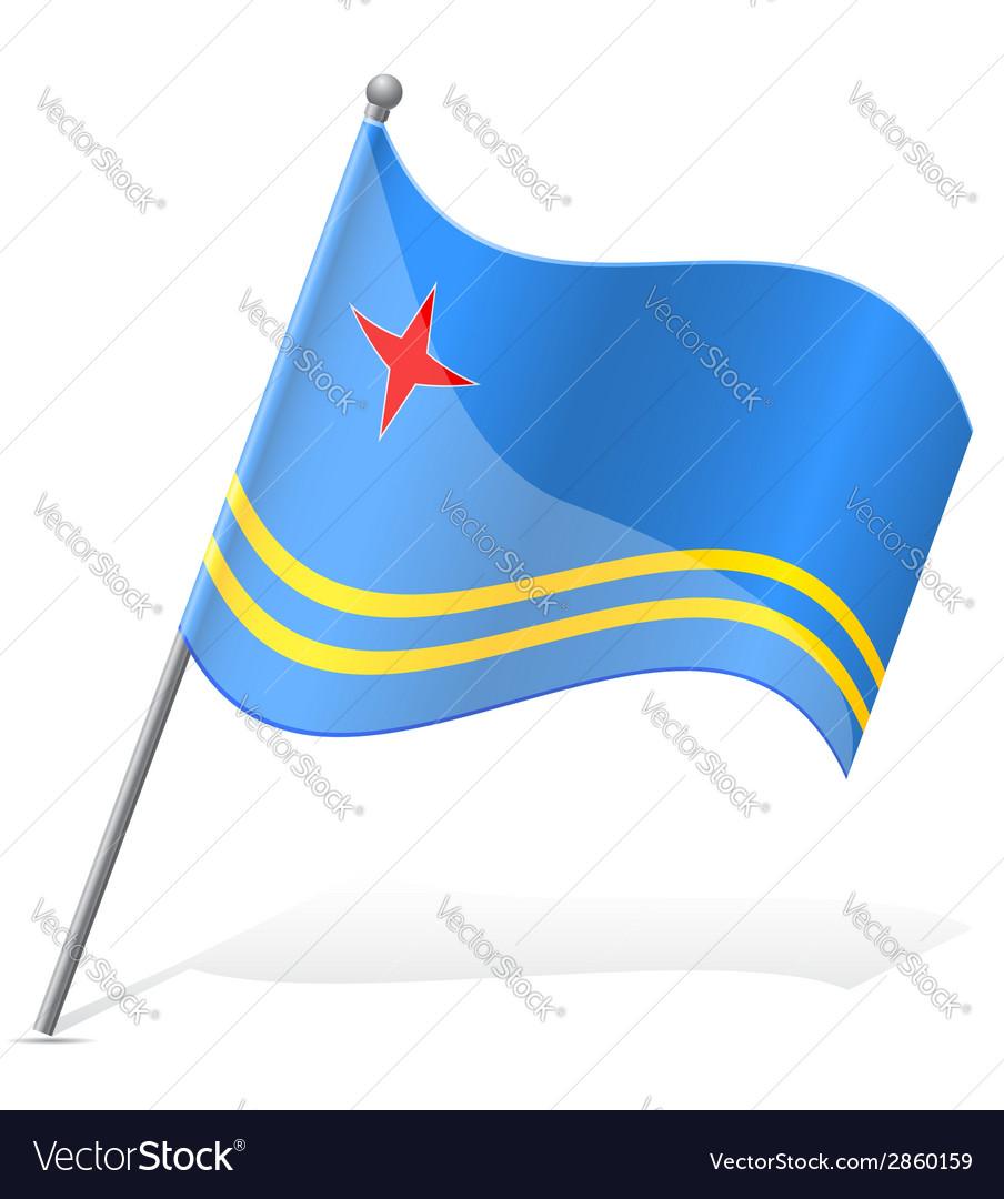Flag of aruba vector | Price: 1 Credit (USD $1)