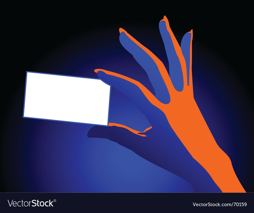 Hand with card vector | Price: 1 Credit (USD $1)