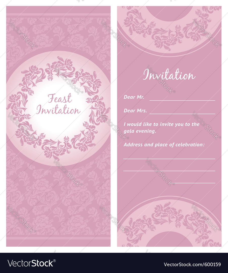Invitation background greeting card vector | Price: 1 Credit (USD $1)