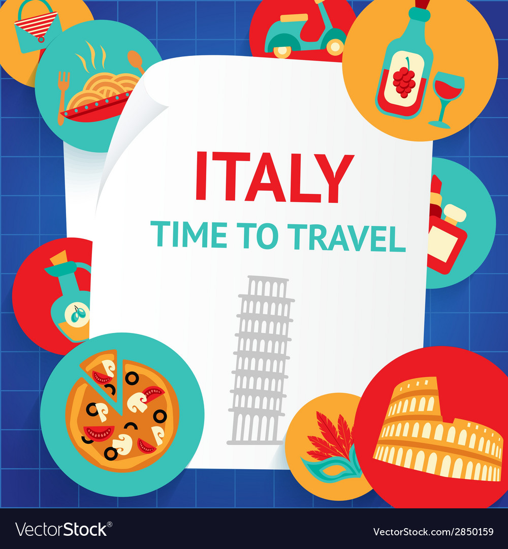 Italy background template vector | Price: 1 Credit (USD $1)