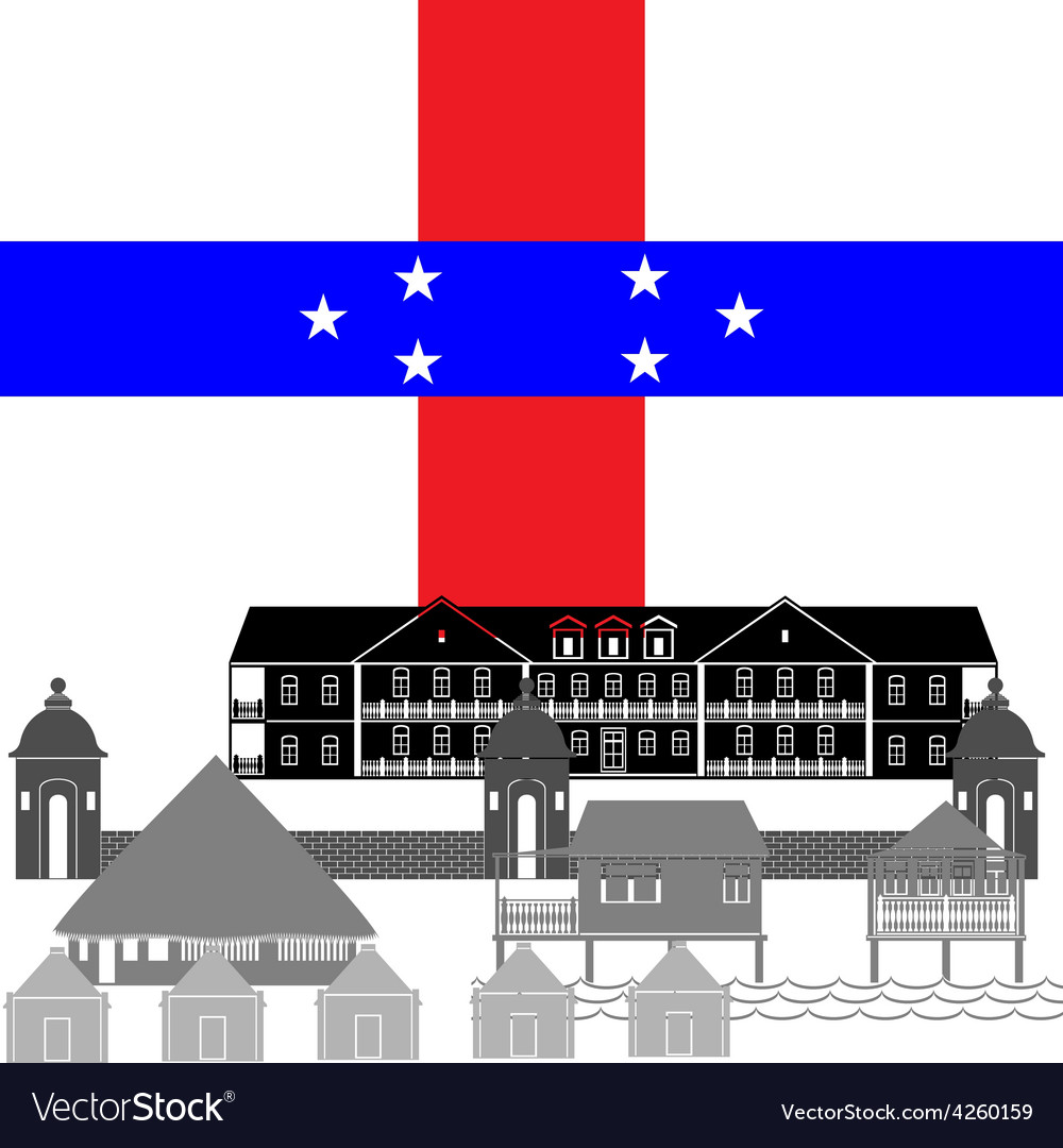 Netherlands antilles vector | Price: 1 Credit (USD $1)