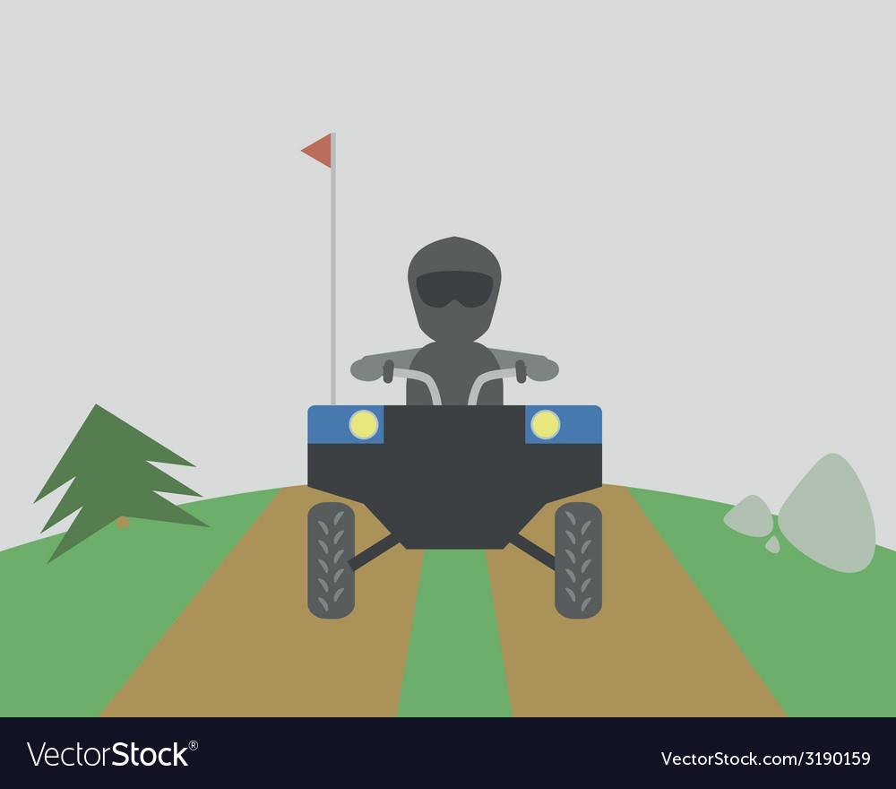 Quadrocycle vector | Price: 1 Credit (USD $1)
