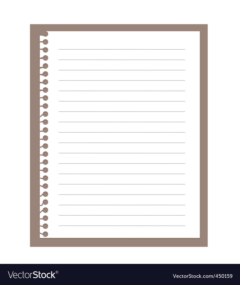 Spiral notebook paper vector | Price: 1 Credit (USD $1)