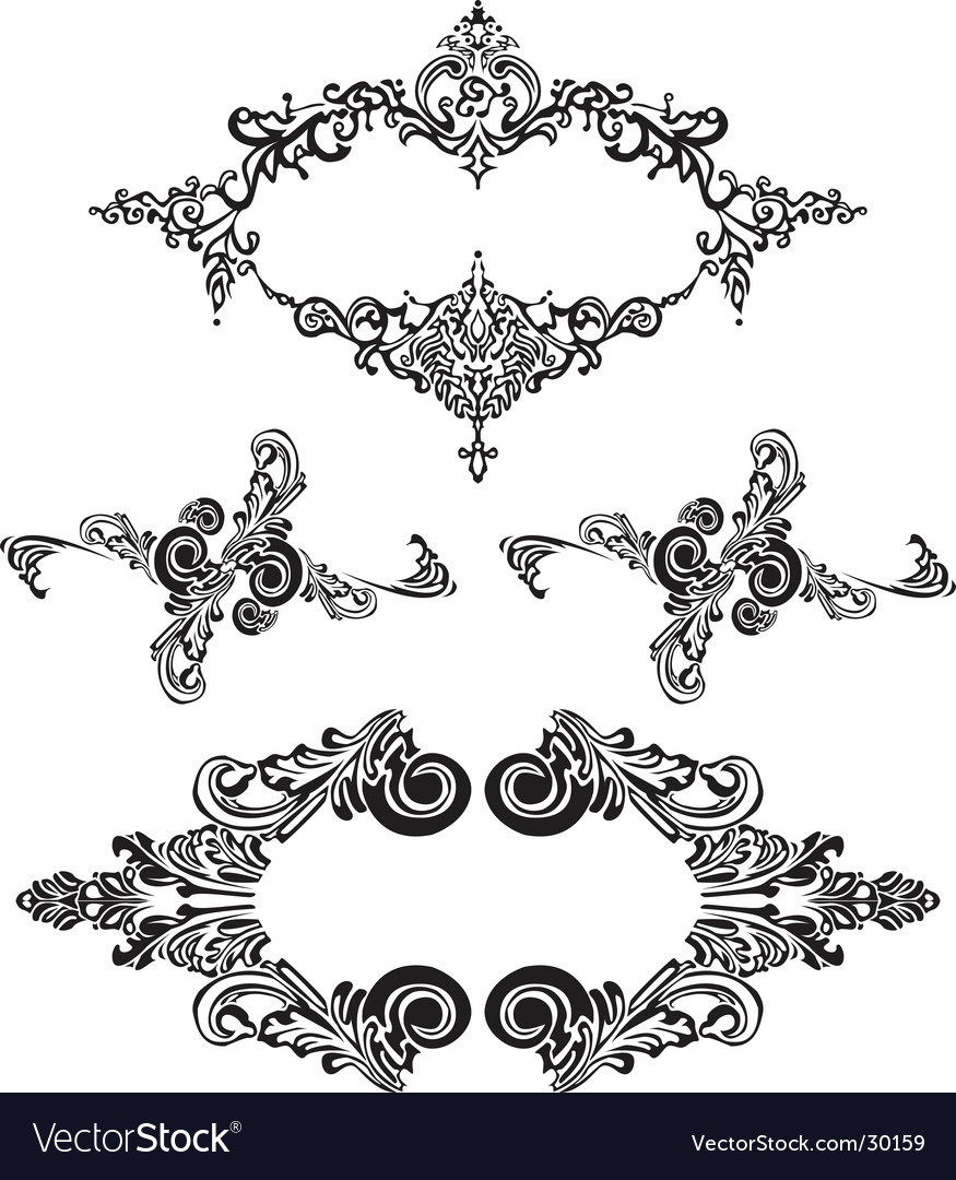 Victorian ornaments vector | Price: 1 Credit (USD $1)
