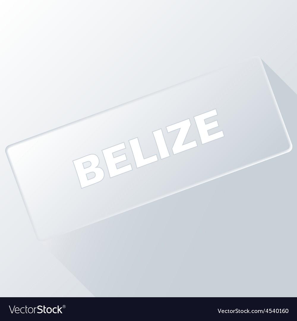 Belize unique button vector   Price: 1 Credit (USD $1)