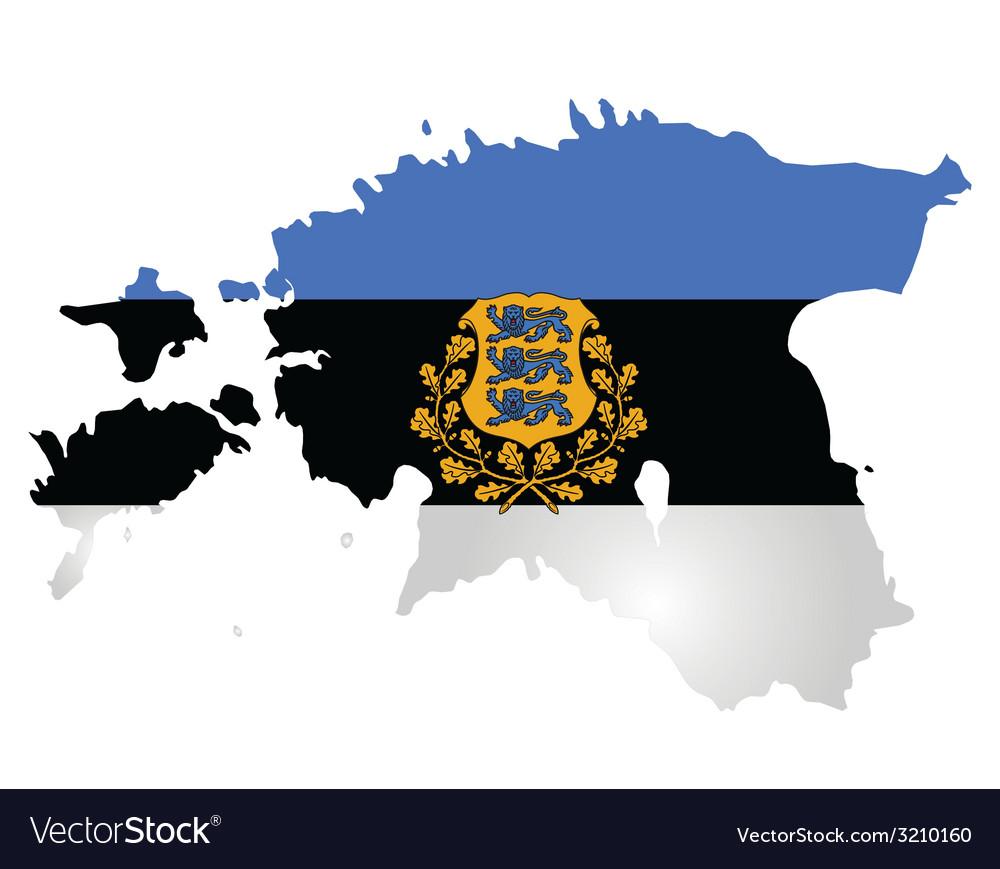 Estonia flag vector   Price: 1 Credit (USD $1)