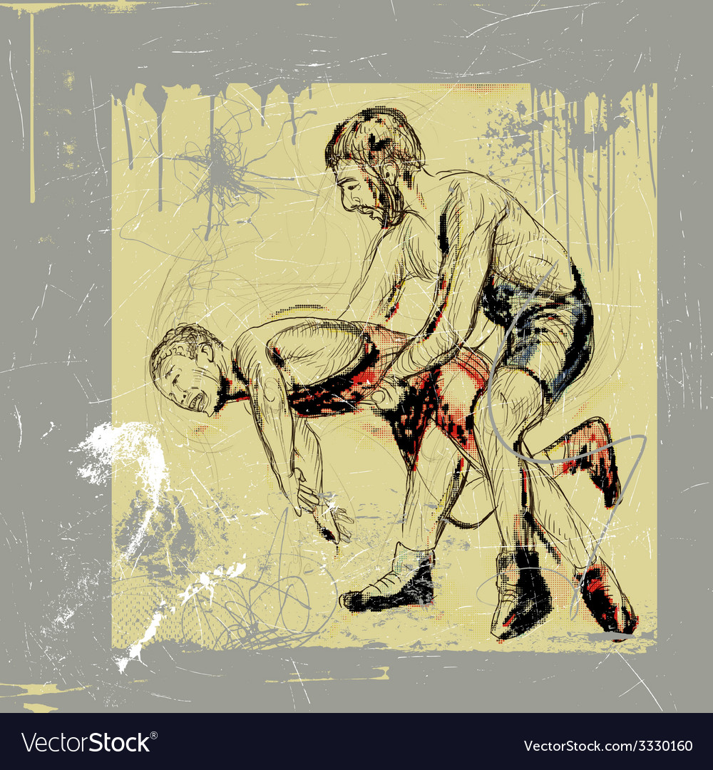 Greco roman wrestling vector | Price: 3 Credit (USD $3)