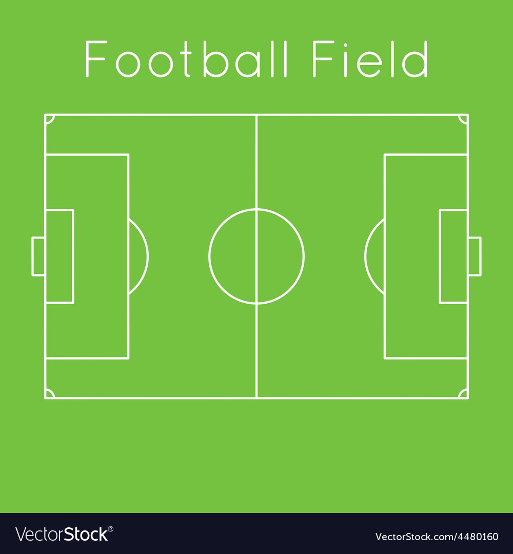 Green football field vector | Price: 1 Credit (USD $1)