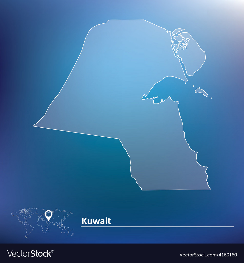 Map of kuwait vector | Price: 1 Credit (USD $1)