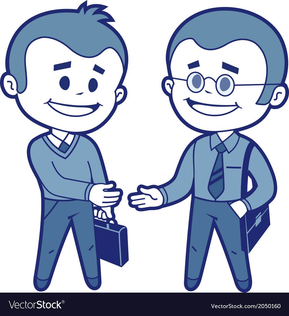 Meeting of two businessmen vector | Price: 1 Credit (USD $1)