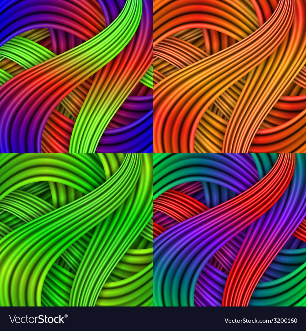 Set of colorful striped backgrounds vector | Price: 1 Credit (USD $1)