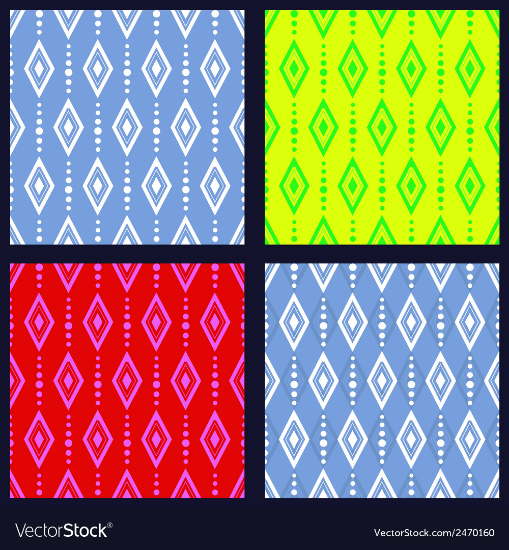 Set of patterns with rhombuses vector | Price: 1 Credit (USD $1)