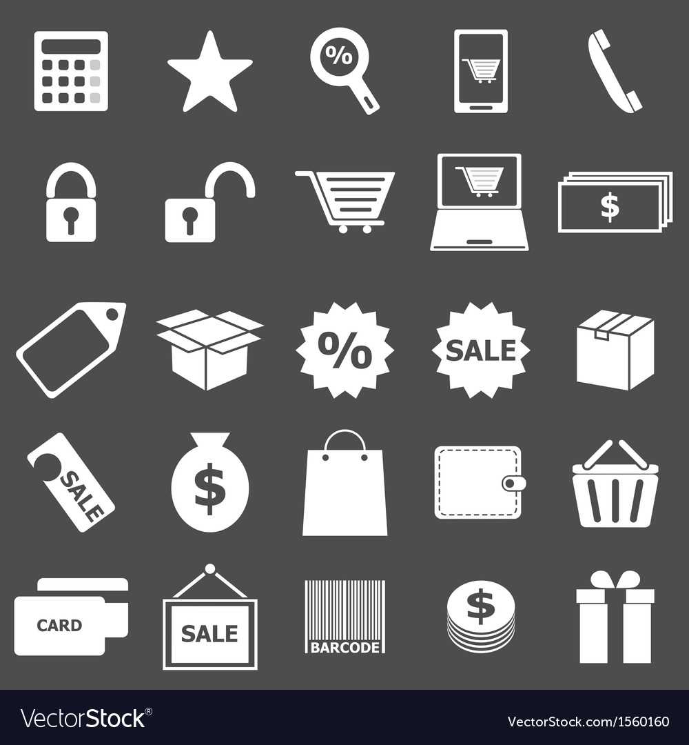 Shopping icons on gray background vector   Price: 1 Credit (USD $1)