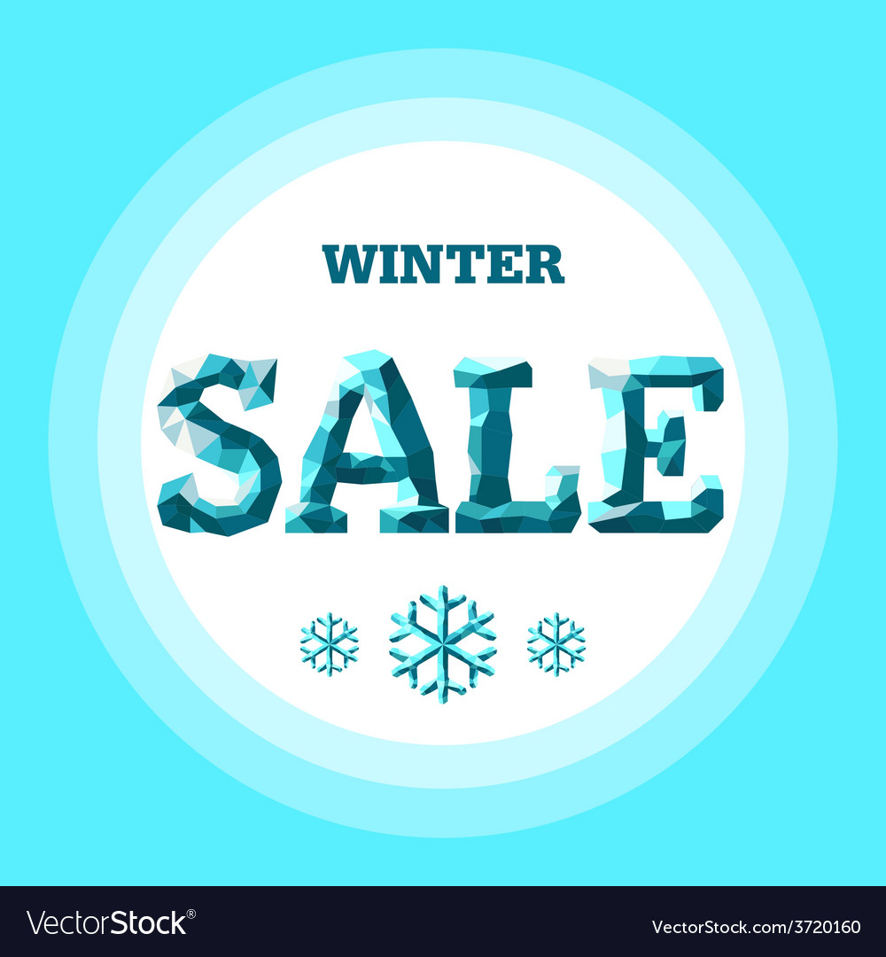 Winter sale vector