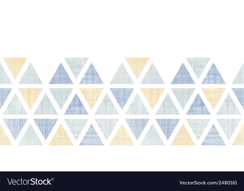 Abstract textile ikat triangles horizontal vector | Price: 1 Credit (USD $1)