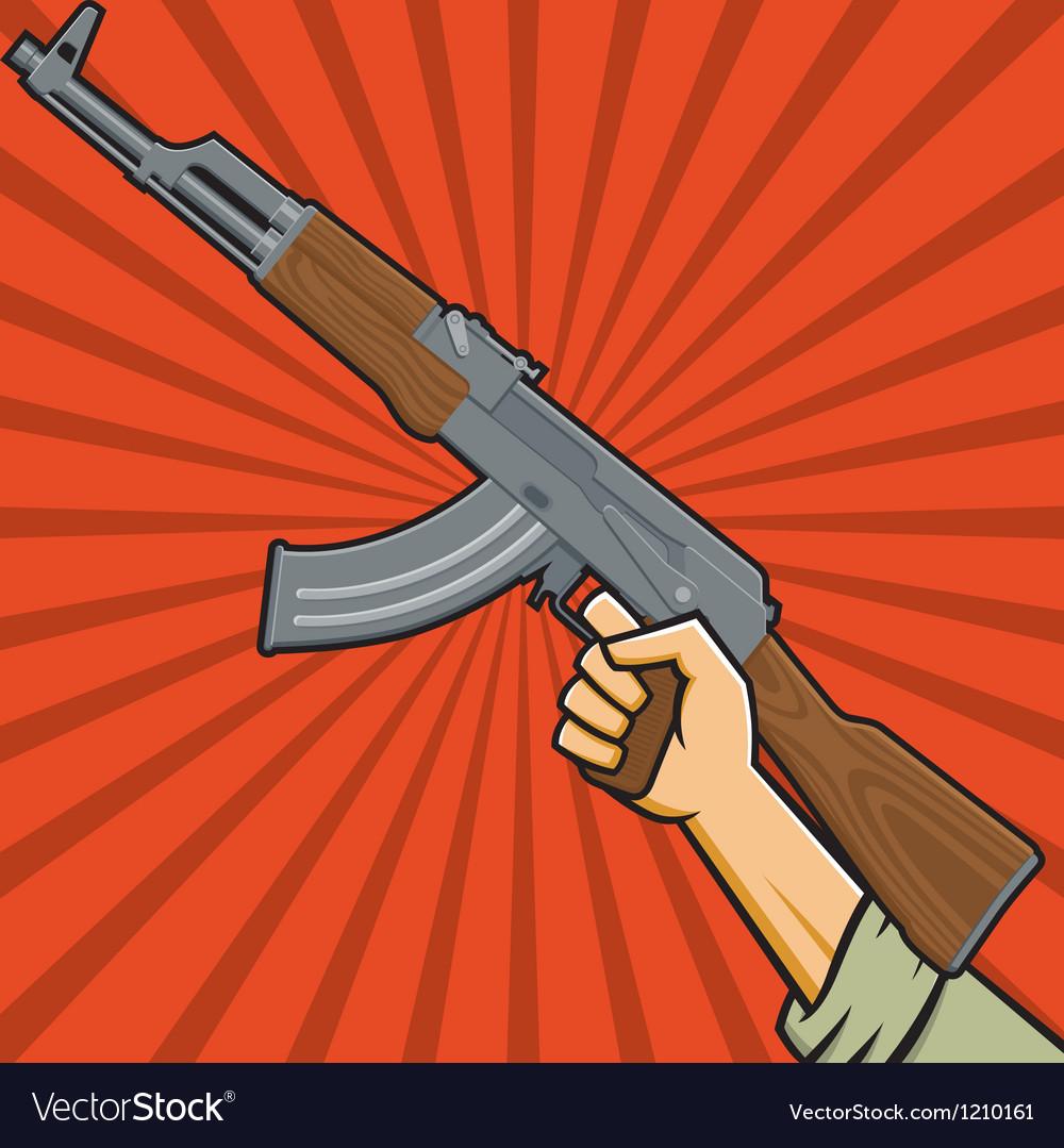 Assault rifle or sub-machine gun vector   Price: 1 Credit (USD $1)