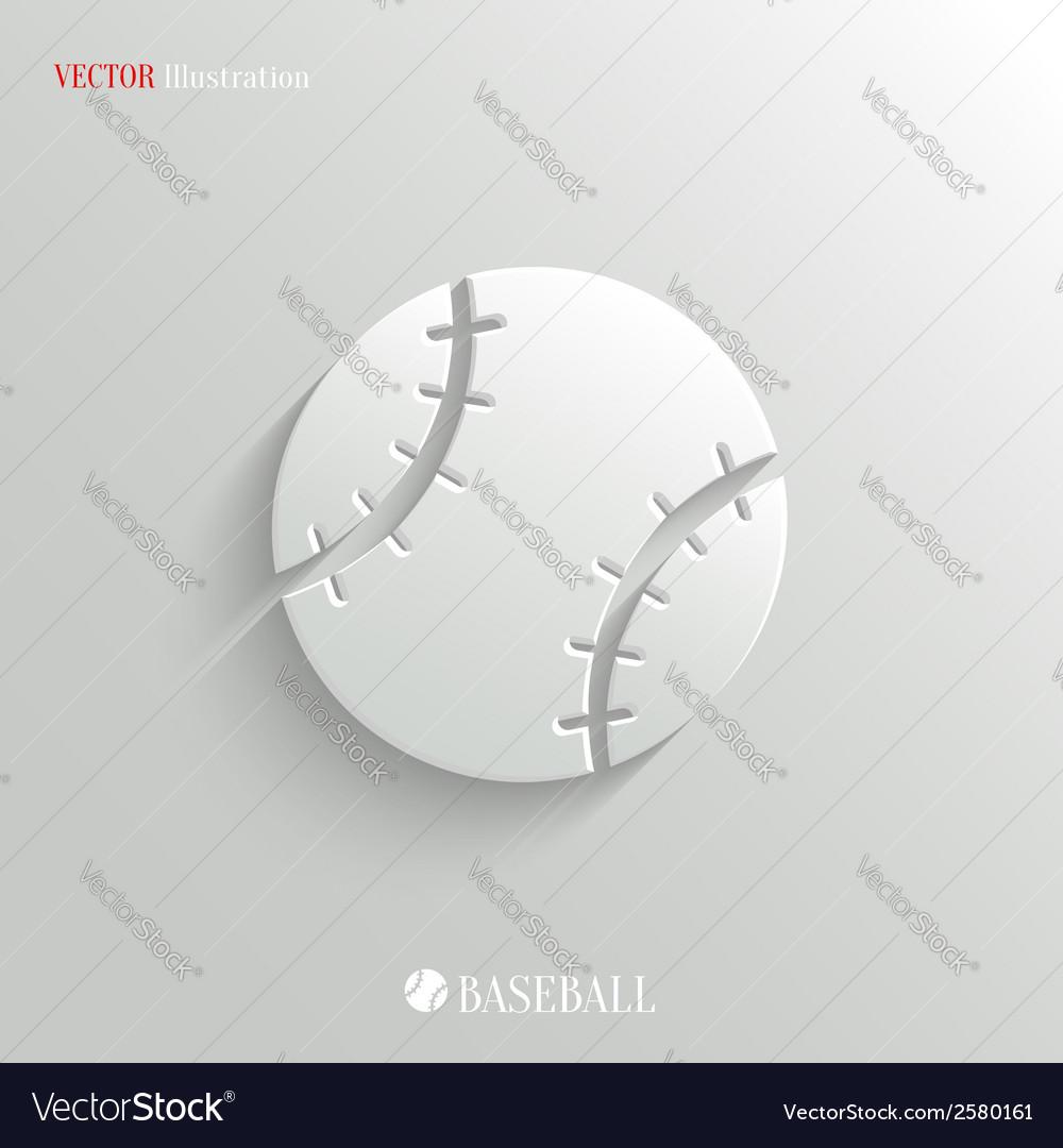 Baseball icon - white app button vector | Price: 1 Credit (USD $1)