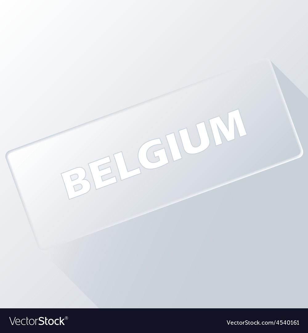 Belgium unique button vector | Price: 1 Credit (USD $1)