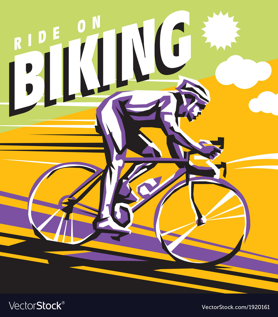 Biking vector | Price: 1 Credit (USD $1)