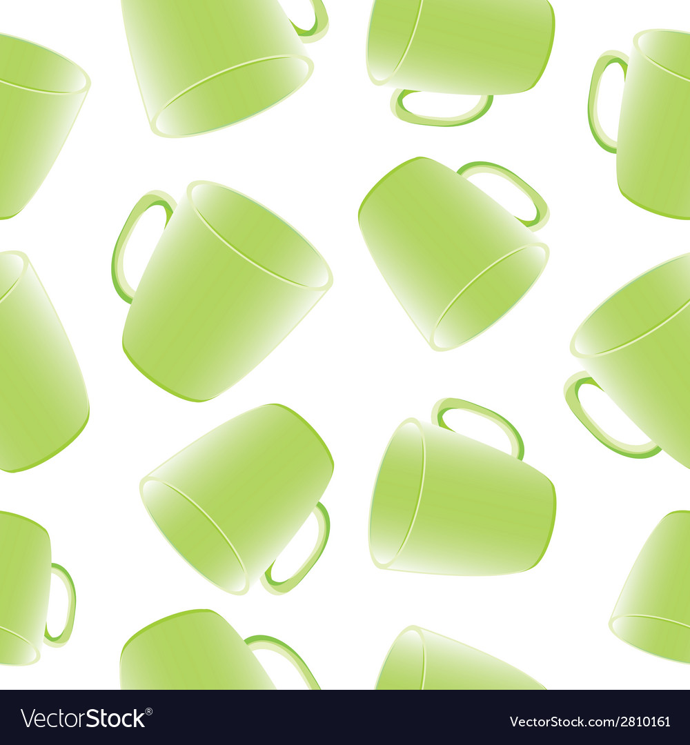 Cups seamless background template for design vector | Price: 1 Credit (USD $1)