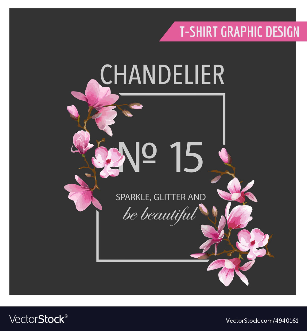 Floral graphic design  for tshirt fashion prints vector