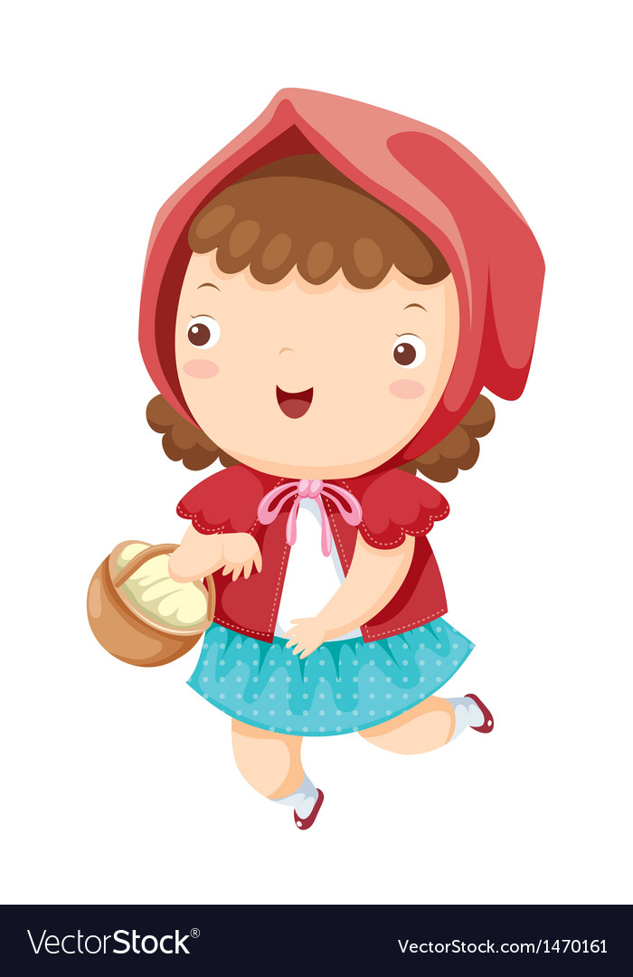 Little red riding hood vector | Price: 1 Credit (USD $1)