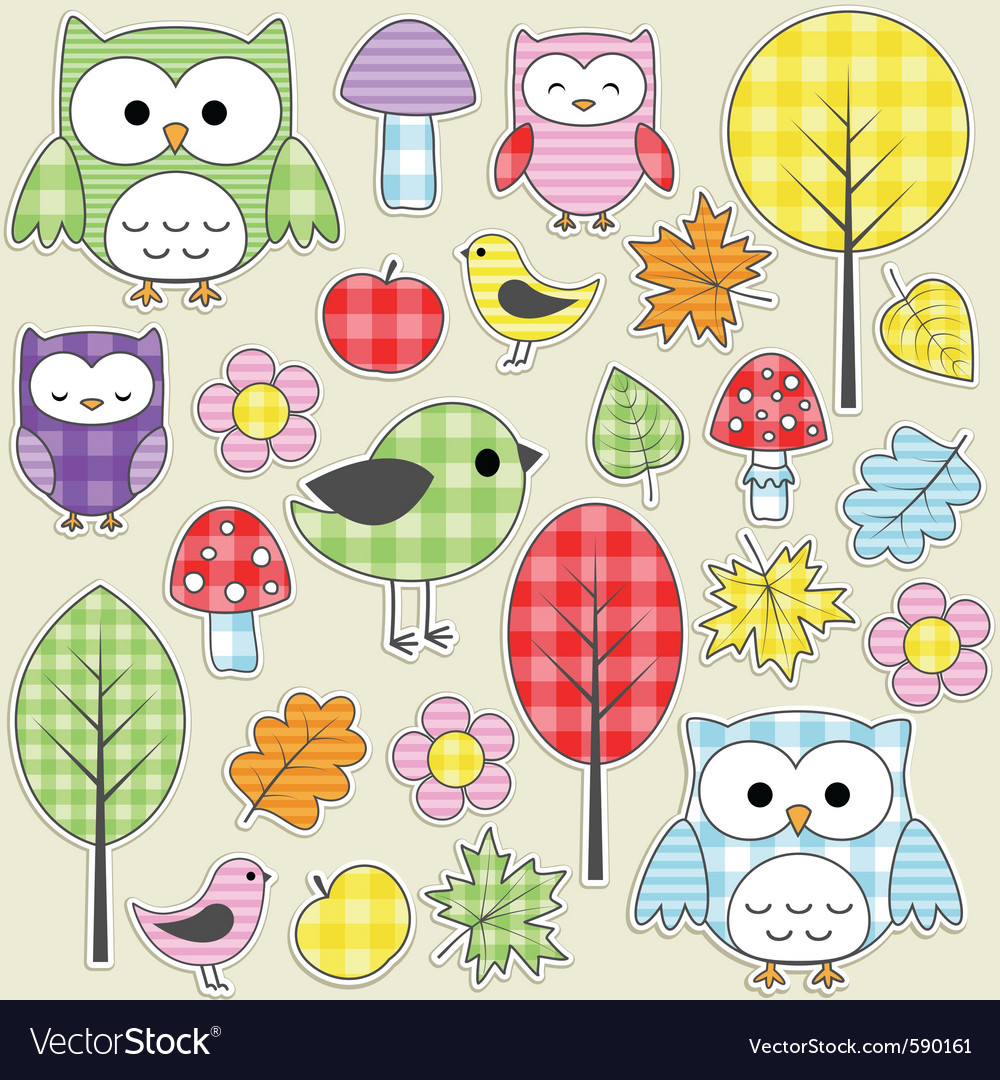 Nature stickers vector | Price: 1 Credit (USD $1)