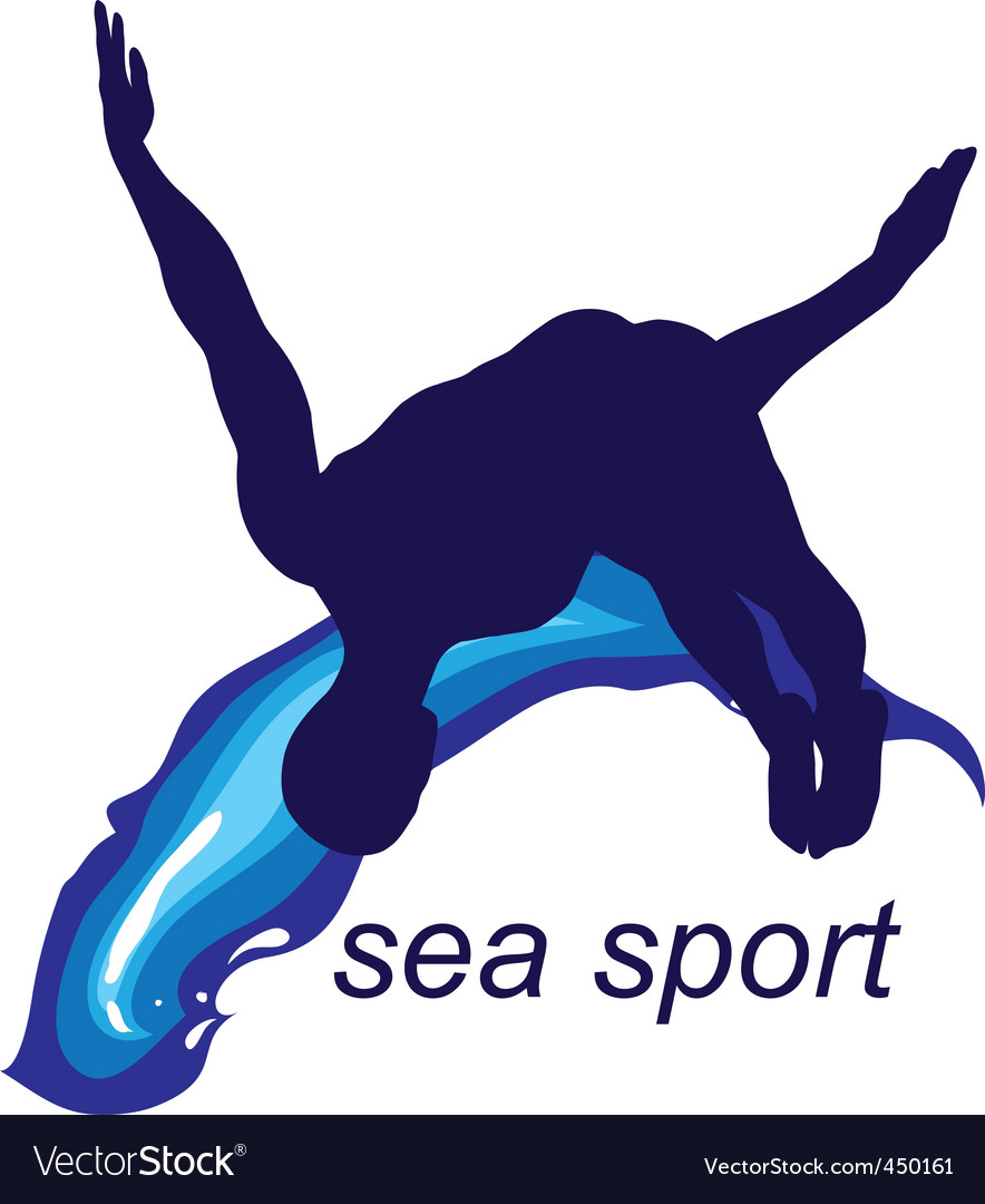 Sea sports logo vector | Price: 1 Credit (USD $1)