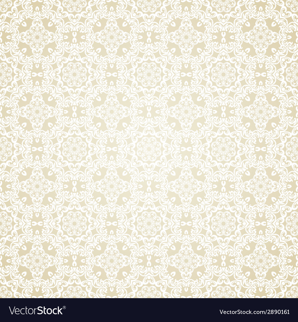 Seamless wallpaper islamic motif background vector | Price: 1 Credit (USD $1)