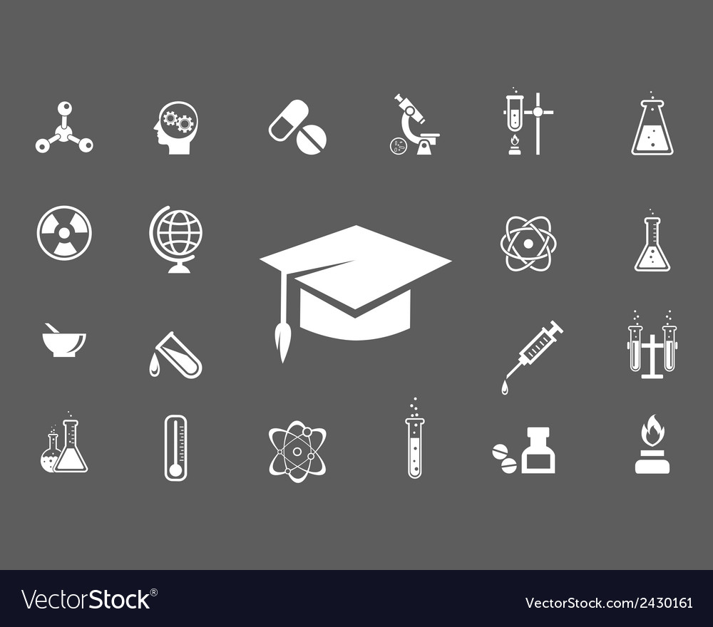 Set of trendy science icons vector | Price: 1 Credit (USD $1)