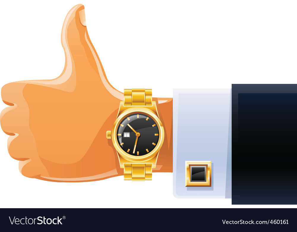 Watch on hand vector | Price: 1 Credit (USD $1)