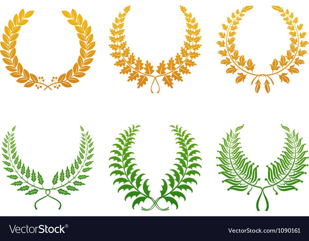 Wreath set vector | Price: 1 Credit (USD $1)