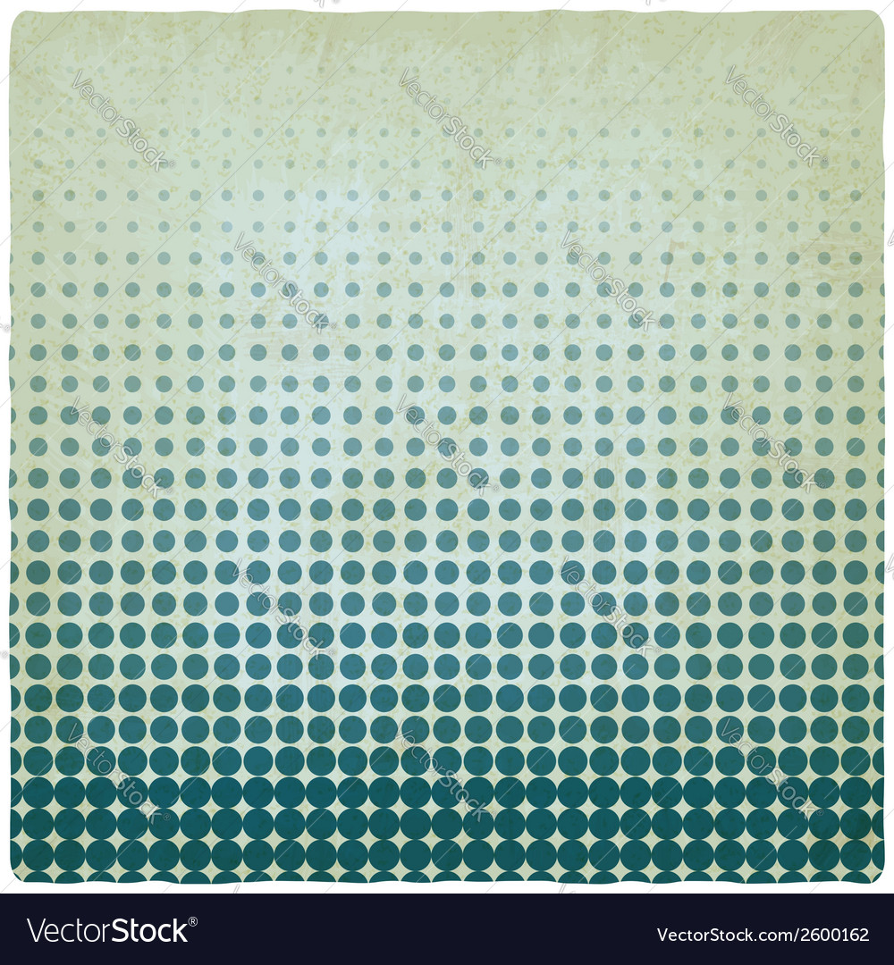 Blue dotted old background vector | Price: 1 Credit (USD $1)