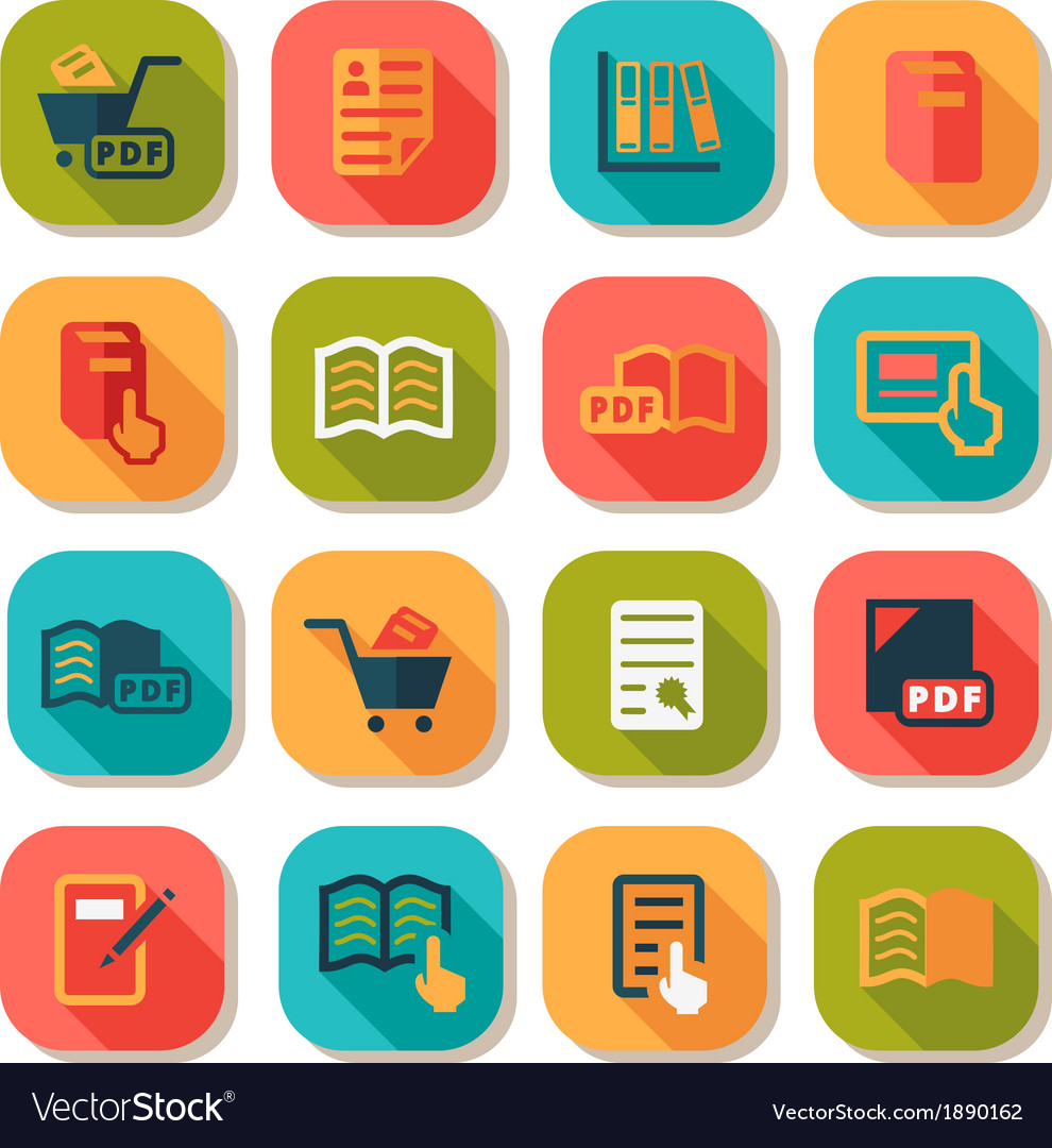 Books icons set vector | Price: 1 Credit (USD $1)
