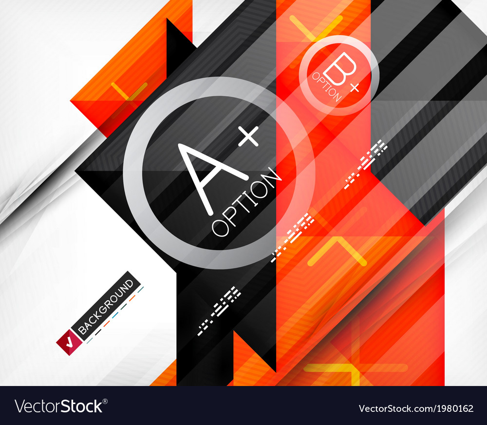 Business geometric infographic poster vector | Price: 1 Credit (USD $1)