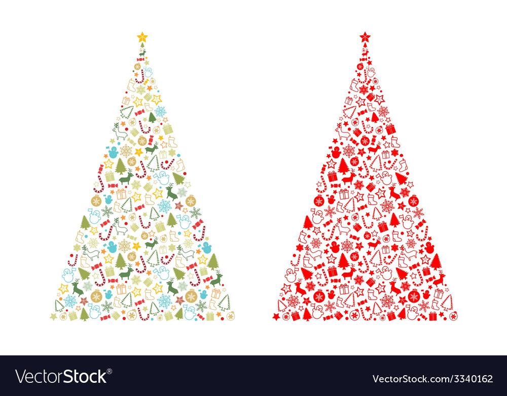 Christmas tree shape vector | Price: 1 Credit (USD $1)
