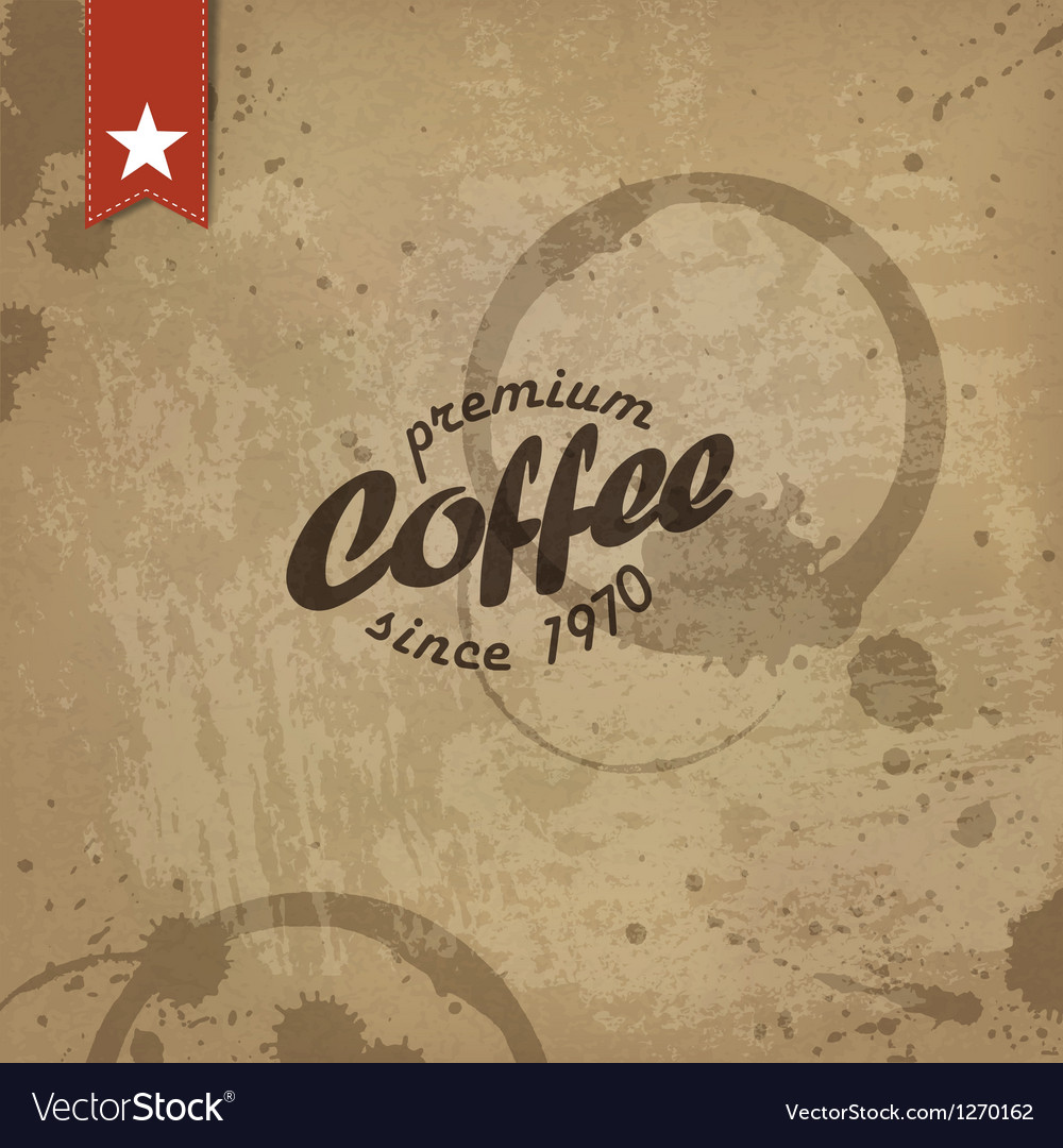 Coffee abstract grungy poster vector | Price: 1 Credit (USD $1)